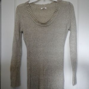 🌲 Xhiliration beige scoop neck sweater
